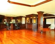 paneling large coffered ceiling full wet bar 360 degree mini bar