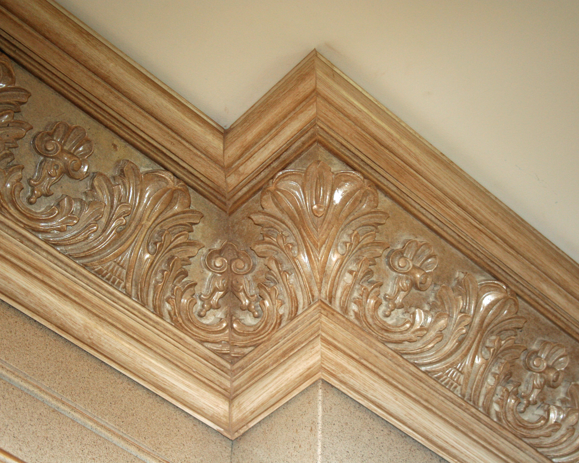 Detail Of Carved Crown Lantz Custom Woodworking