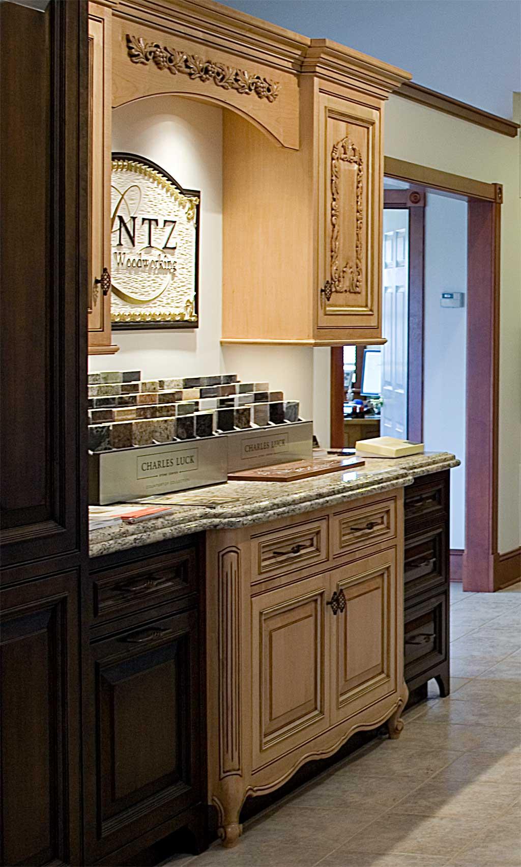 Kitchen Cabinets In The Lantz Showroom Lantz Custom