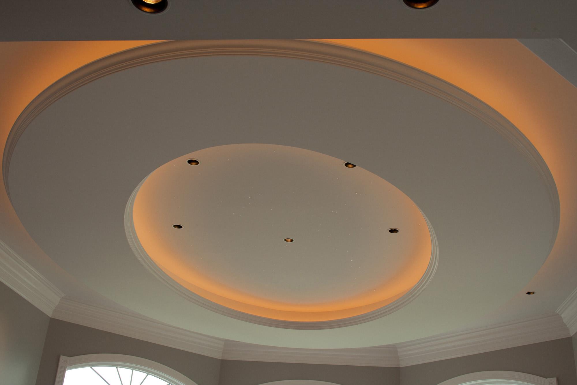 Eliptical Tray Ceiling Lantz Custom Woodworking